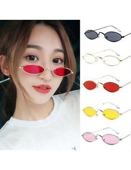 Women Vintage Sunglasses Retro Small Oval Metal Frame Men Eyewear Glasses Top by Unbranded
