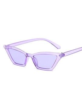 Women Fashion Cat Eye Sunglasses Retro Small Frame Uv400 Eyewear Vintage by Unbranded