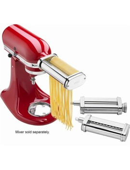 ksmpra-pasta-roller-attachments-for-most-kitchenaid-stand-mixers---stainless-steel by kitchenaid