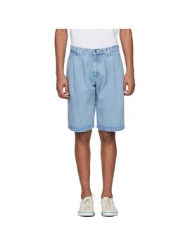 Blue Large Denim Shorts by Gosha Rubchinskiy