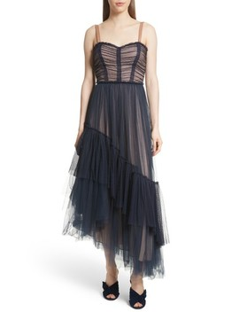 Coletta Asymmetrical Tulle Dress by Cinq À Sept
