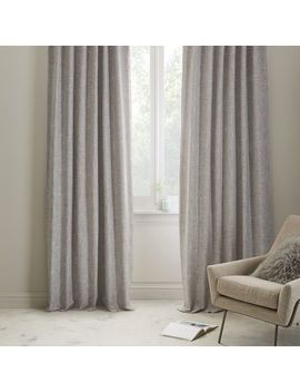 Crossweave Curtain + Blackout Liner   Stone White by West Elm