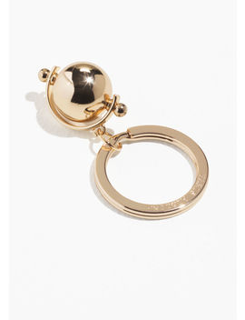 Gold Cylinder Charm Keyring by & Other Stories