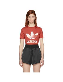 Orange Trefoil T Shirt by Adidas Originals