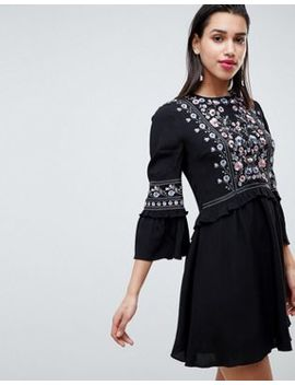 Forever New Embroidered Smock Dress by Forever New