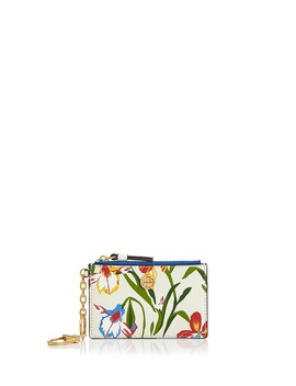 Robinson Floral Leather Card Case by Tory Burch