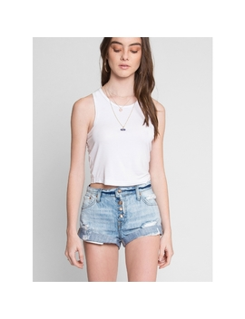 Huntington Exposed Button Fly Denim Shorts by Wet Seal