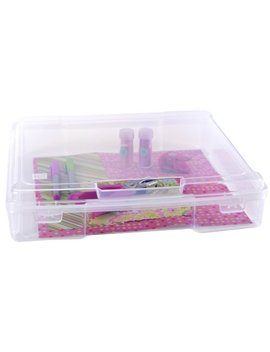 "Iris Usa, Inc. Iris 12"" X 12"" Portable Project Case, 6 Pack, Clear by Iris Usa, Inc."