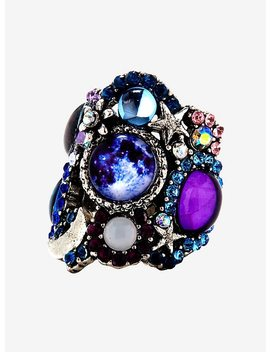 Moon &Amp; Stars Galaxy Cluster Ring by Hot Topic