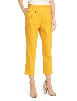 Pleat Front Crop Pants by Leith