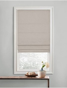 Regal Home Collections Premium Room Darkening Cordless Roman Shades   Assorted Sizes, Styles & Colors (Textured Neutral, 35 In.) by Regal Home Collections