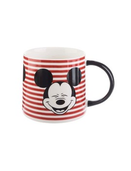 Mickey Mouse & Friends Mickey Mouse Porcelain Mug 26oz Stripes   Red/Black by Disney