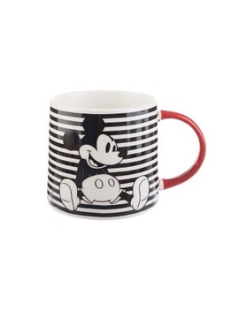 Mickey Mouse & Friends Mickey Mouse Porcelain Mug 26oz Stripes   Black/White by Disney