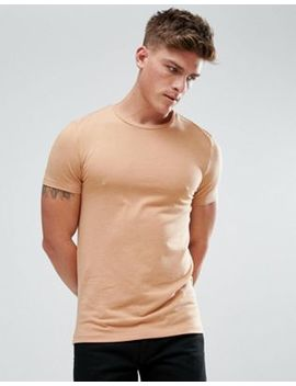 Asos Muscle Fit T Shirt With Crew Neck In Tan by Asos