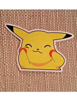 Pikachu Pokemon Cute Cheeks Go Poke Ball Sticker Decal Car Truck Laptop Jdm by Unbranded