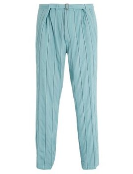 Striped Tapered Leg Trousers by Haider Ackermann