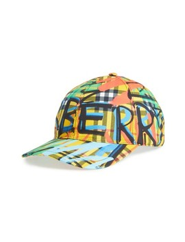 Fonts Baseball Cap by Burberry
