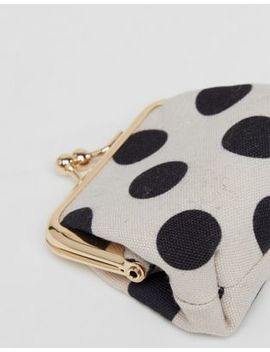 Asos Design Clip Frame Polka Dot Purse by Asos Design