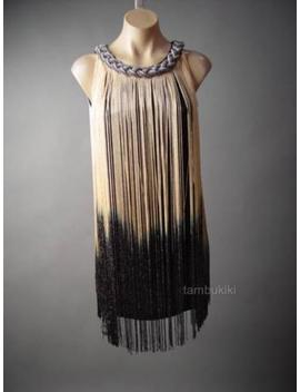 Ombre Fringe Flapper Roaring 20s Theme Dance Party Plus 236 Mv Dress 1 Xl 2 Xl 3 Xl by Unbranded