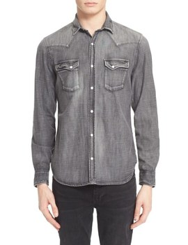 Trim Fit Denim Western Shirt by The Kooples