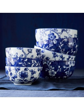 Japanese Garden Small Bowls, Mixed Set Of 4 by Williams   Sonoma