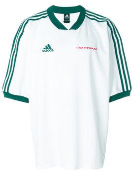 Gosha Rubchinskiy X Adidas Football Teehome Men Clothing T Shirts Adidas Originals Gazelle Sneakers Gosha Rubchinskiy X Adidas Football Tee by Gosha Rubchinskiy