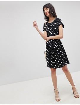 Vero Moda – Gepunktetes Kleid Mit Taillengürtel by Vero Moda