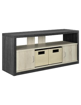 "Highcrest Tv Stand For T Vs Up To 50"" With 2 Fabric Bins   Espresso/Light Brown   Room & Joy by Room & Joy"
