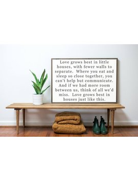 Love Grows Best 3x2 by Etsy