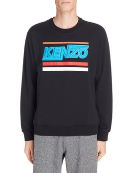 Embroidered Logo Sweatshirt by Kenzo