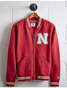 Tailgate Men's Nebraska Bomber Jacket by American Eagle Outfitters