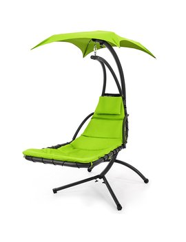 Best Choice Products Hanging Chaise Lounger Chair Arc Stand Air Porch Swing Hammock Chair Canopy Gr by Best Choice Products