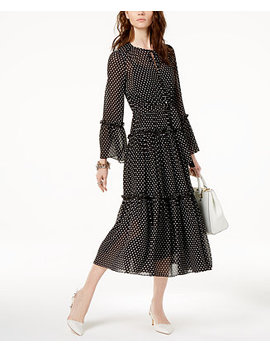 Ruffled Polka Dot Dress by Michael Michael Kors