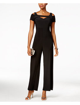 Cutout Wide Leg Jumpsuit, Regular & Petite Sizes by Nightway