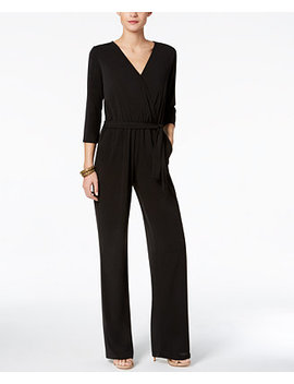 Petite Belted Jumpsuit by Ny Collection