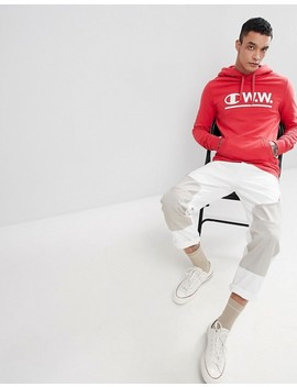 Champion X Wood Wood Hoodie In Red by Champion