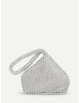 Rhinestone Embellished  Clutch Bag by Sheinside