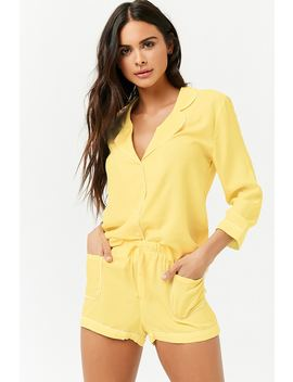 Piped Pajama Set by Forever 21