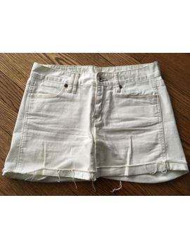 "Women's Madewell White Denim Shorts   Size 25"" by Madewell"