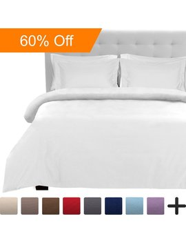 Luxury 2 Piece Duvet Cover And Sham Set   Premium 1800 Ultra Soft Brushed Microfiber   Hypoallergenic, Easy Care, Wrinkle Resistant (Twin/Twin Xl, White) by Bare Home