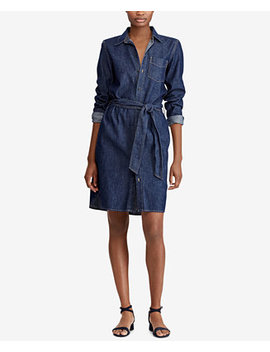 Petite Denim Cotton Shirtdress by Lauren Ralph Lauren