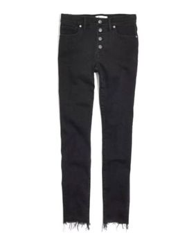 Nwt Madewell High Fise Skinny Jeans Button Through Edition Berkeley Black Sz 24 by Madewell