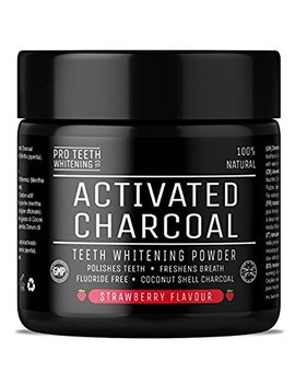 Activated Charcoal Natural Teeth Whitening Powder Spearmint Flavour By Pro Teeth Whitening Co® | Manufactured In The Uk by Amazon