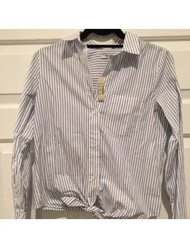 New Madewell Striped Tie Front Shirt Size Xs Extra Small Nwt $79 by Madewell
