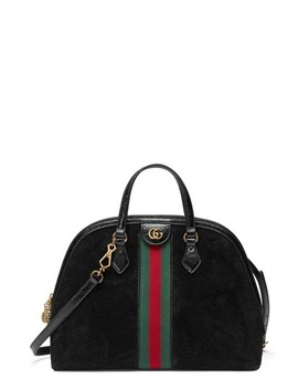 Ophidia Suede Dome Satchel by Gucci