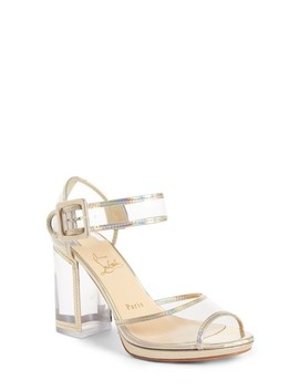 Barbaclara Clear Quarter Strap Sandal by Christian Louboutin