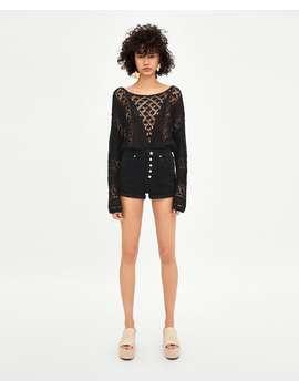 Hi  Rise Shorts Denim Shorts Trf by Zara
