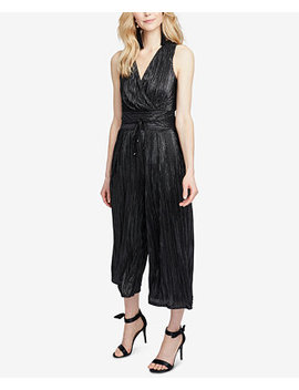 Metallic Pleated Cropped Jumpsuit by Rachel Rachel Roy