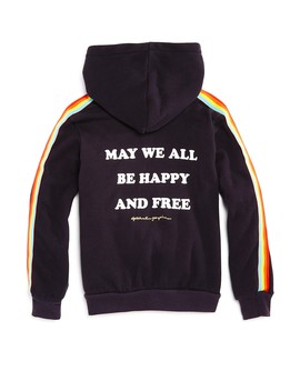 Girls' Hooded Rainbow Fleece Sweatshirt   Little Kid, Big Kid by Spiritual Gangster