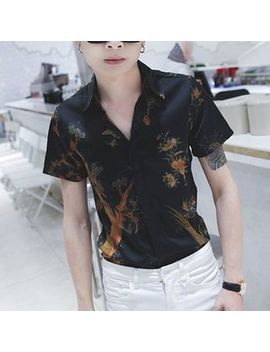 Printed Short Sleeve Polo Shirt by Manne